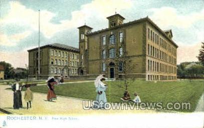 New High School - Rochester, New York NY Postcard