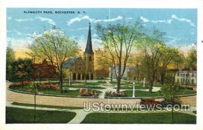 Plymouth Park - Rochester, New York NY Postcard