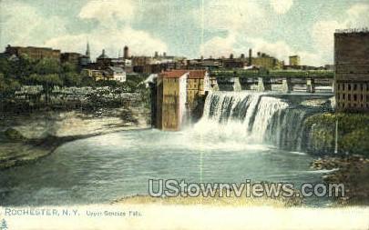 Upper Genesee Falls - Rochester, New York NY Postcard