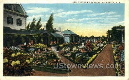 Geo. Eastman's Gardens - Rochester, New York NY Postcard