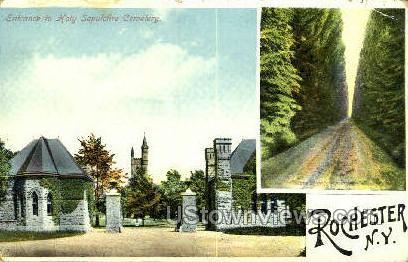 Holy Sepulchre - Rochester, New York NY Postcard