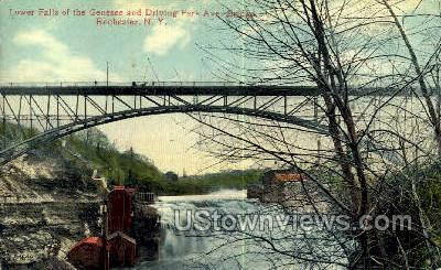 Park Ave. Bridge - Rochester, New York NY Postcard