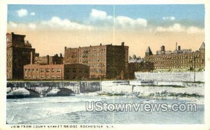 Court Street Bridge - Rochester, New York NY Postcard