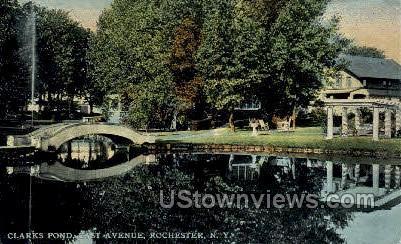 Clarks Pond - Rochester, New York NY Postcard