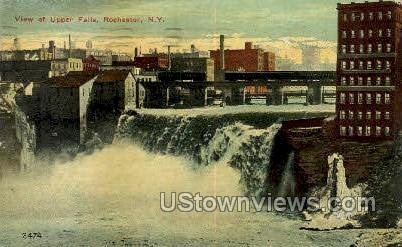 Upper Falls - Rochester, New York NY Postcard