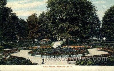 Jones Square - Rochester, New York NY Postcard