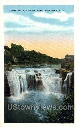 Lower Falls - Rochester, New York NY Postcard