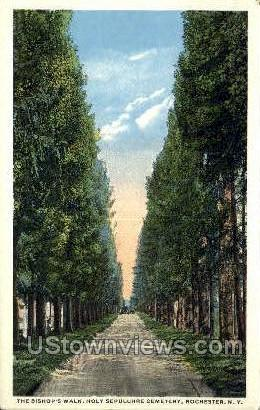 Holy Sepulchre Cemetery - Rochester, New York NY Postcard