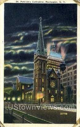 St. Patrick's Cathedral - Rochester, New York NY Postcard
