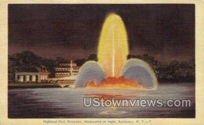 Highland Park Reservoir - Rochester, New York NY Postcard