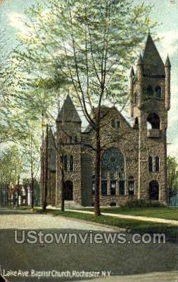 Lake Ave. Baptist Church - Rochester, New York NY Postcard