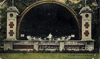 Band Stand, South Park - Rochester, New York NY Postcard