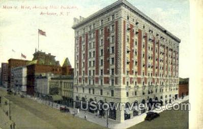 Main St. West, Hotel Rochester - New York NY Postcard