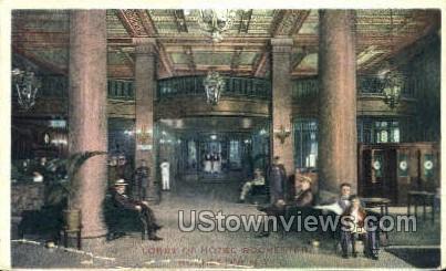 Lobby of Hotel Rochester - New York NY Postcard
