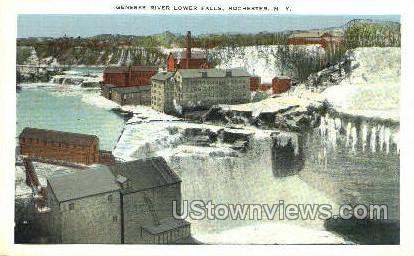 Genesee River Lower Falls - Rochester, New York NY Postcard