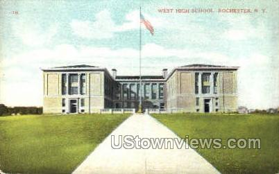 West High School - Rochester, New York NY Postcard
