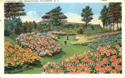 Highland Park Observatory - Rochester, New York NY Postcard