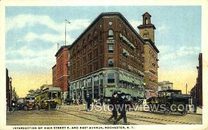 Main Street East & East Ave. - Rochester, New York NY Postcard