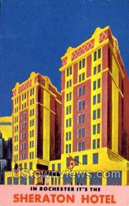 Sheraton Hotel & Motor Inn - Rochester, New York NY Postcard