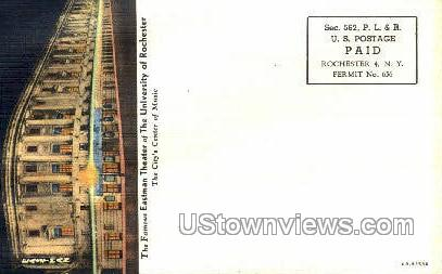 Eastman Theater, Uof Rochester - New York NY Postcard