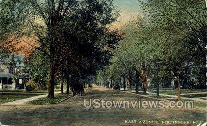 East Ave. - Rochester, New York NY Postcard