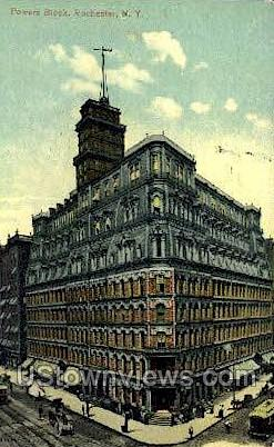 Powers Block - Rochester, New York NY Postcard