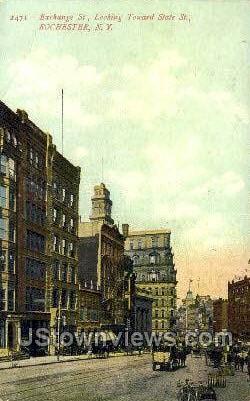 Exchange St. - Rochester, New York NY Postcard