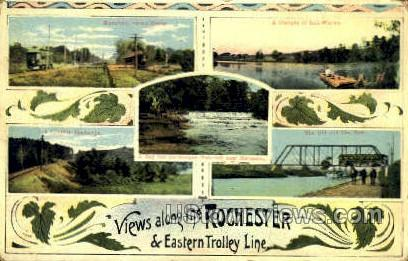 Eastern Trolley Line, - Rochester, New York NY Postcard