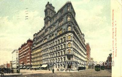 Powers Bldg & Hotel - Rochester, New York NY Postcard