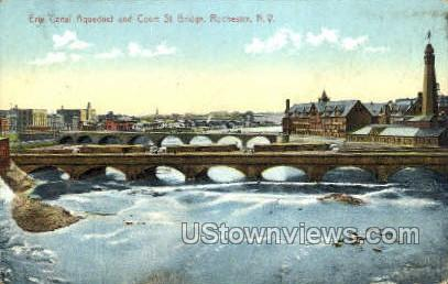 Erie Canal Aqueduct - Rochester, New York NY Postcard