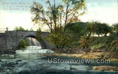 Allens Creek, R.S. & E. Electric Ry. - Rochester, New York NY Postcard