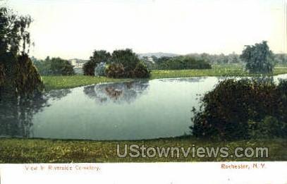 Riverside Cemetery - Rochester, New York NY Postcard
