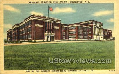 Benjamin Franklin High School - Rochester, New York NY Postcard