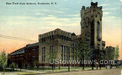 New York State Armory - Rochester Postcard