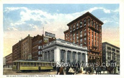 Main & Exchange Streets - Rochester, New York NY Postcard