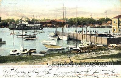 River at Charlotte - Rochester, New York NY Postcard
