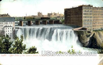 Upper Falls, Genesee River - Rochester, New York NY Postcard