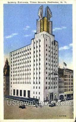 Times Square - Rochester, New York NY Postcard