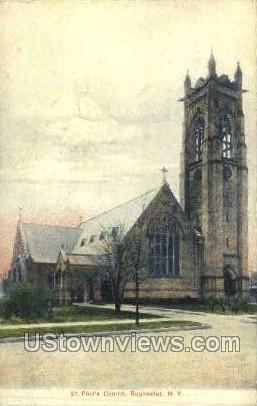 St. Paul's Church - Rochester, New York NY Postcard