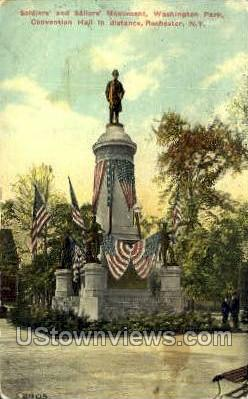 Soliders' & Sailors' Monument - Rochester, New York NY Postcard