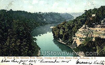 Genesee River Gorge - Rochester, New York NY Postcard
