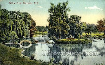 Willow Pond - Rochester, New York NY Postcard