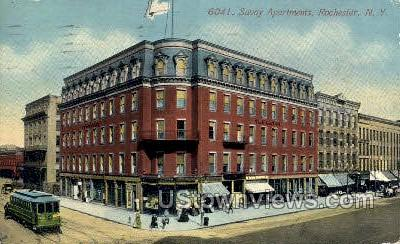 Savoy Apts. - Rochester, New York NY Postcard