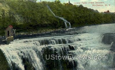 Lower Falls, Genesee River - Rochester, New York NY Postcard