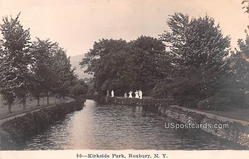 Kirkside Park - Roxbury, New York NY Postcard