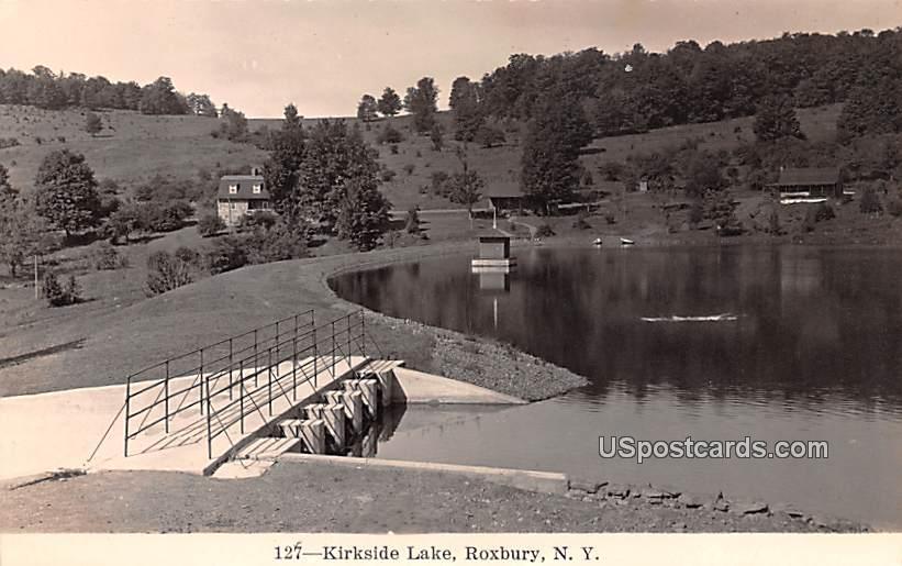 Kirkside Lake - Roxbury, New York NY Postcard
