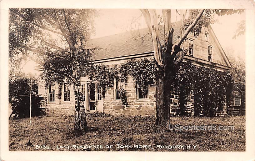 Last Residence of John More - Roxbury, New York NY Postcard