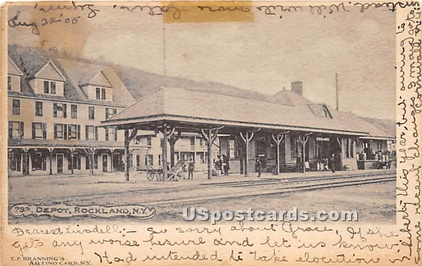 Depot - Rockland, New York NY Postcard