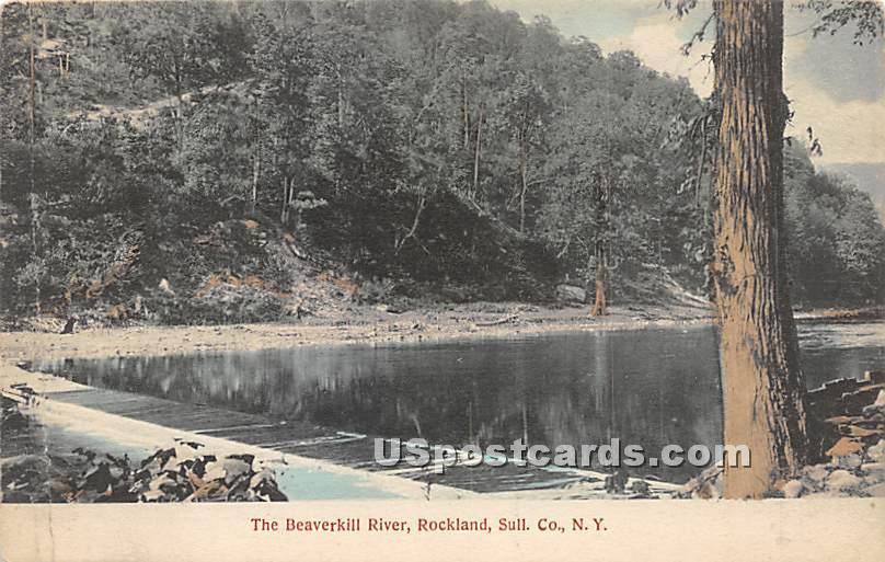 Beaverkill River - Rockland, New York NY Postcard