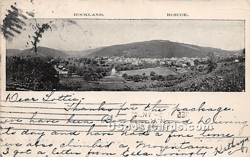 Roscoe - Rockland, New York NY Postcard